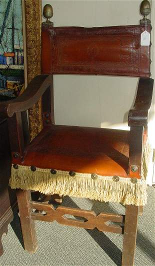 two 17th c. throne chairs