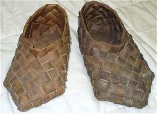 Pr. Penobscot Indian woven slippers