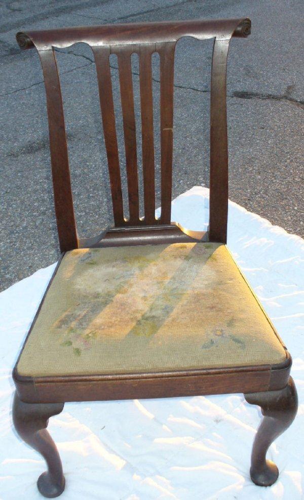 20: Period Queen Anne side chair