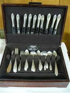 187A: sterling silver flatware set