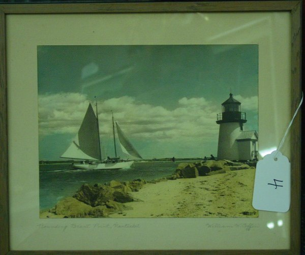 4: Nantucket colored photograph by William W Coffin