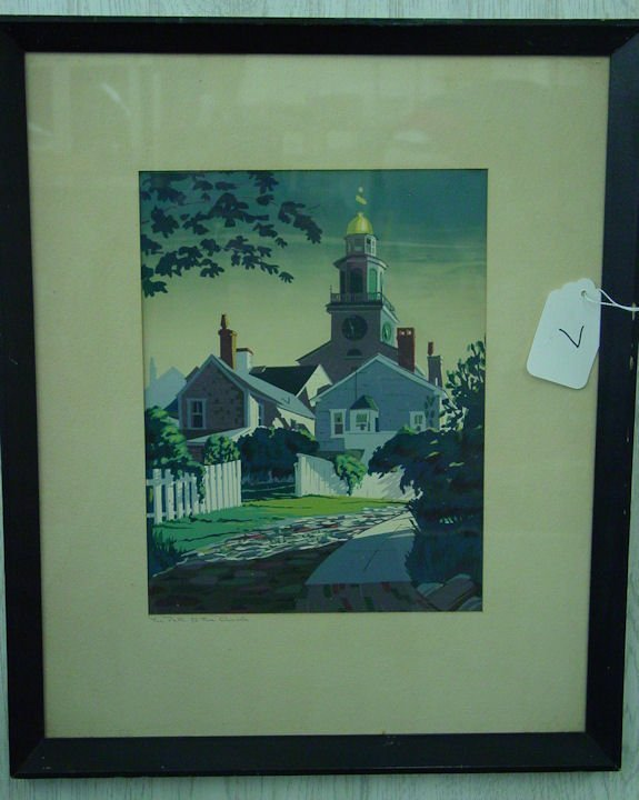 7: Roy Clifford Smith Nantucket silkscreen
