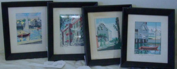 8: 4 Roy Clifford Smith Nantucket prints