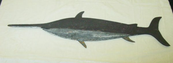 14: antique cutout swordfish