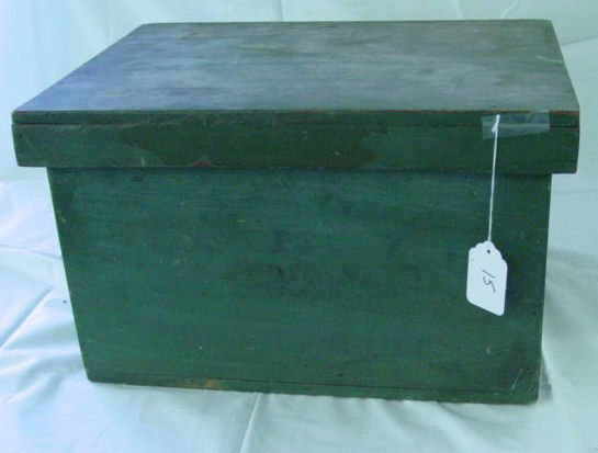 15: Nantucket travel box in old green paint