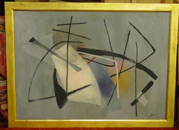 109: Fritz Winter mixed media abstract painting