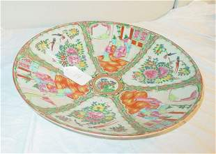 19th c. Rose Medallion charger