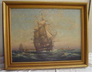 C Myron Clark oil painting on canvas