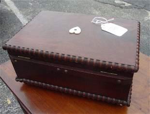 inlaid mahogany sailors box