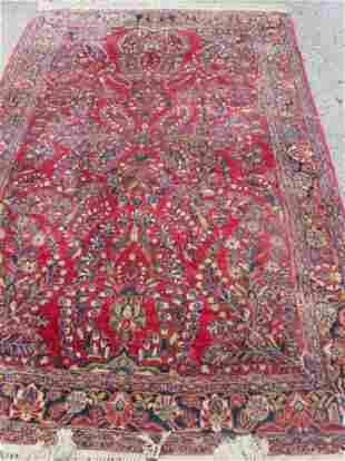 antique oriental Persian Sarouk carpet
