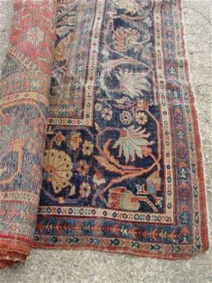 roomsize antique Mahal oriental carpet