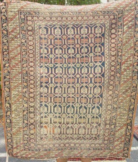 1A: antique Shirvan oriental carpet
