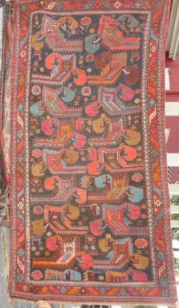 1C: antique Kuba oriental carpet
