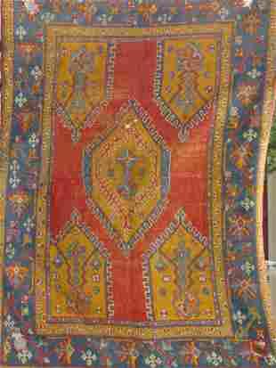 antique Oushak oriental carpet