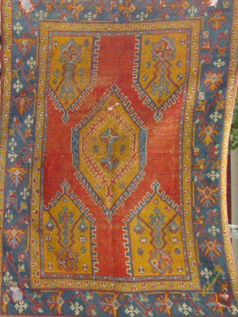 1G: antique Oushak oriental carpet