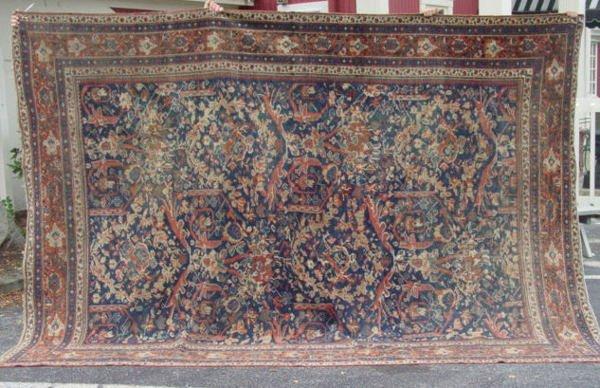 1H: antique Mahal oriental carpet