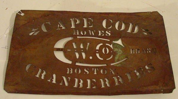 4: rare antique cranberry box stencil