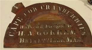 antique cranberry box stencil