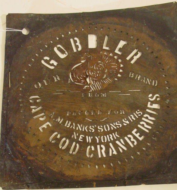 6: rare antique cranberry box stencil