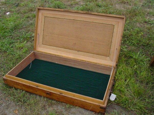 7: oak brass bound box