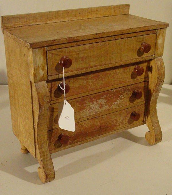 9: Doll's miniature Empire bureau