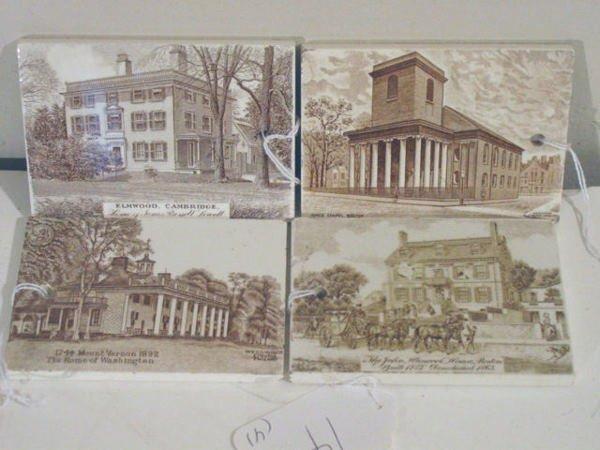 14: 4 antique calendar tiles