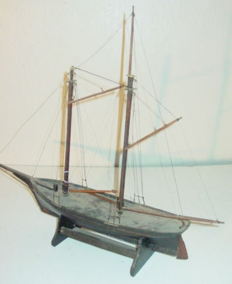 40: 19th c. ship model