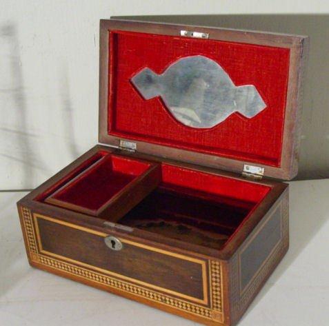 41: sailor made inlaid lift top box
