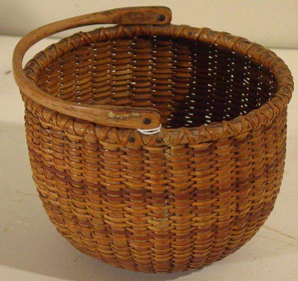 57: 19th c. Nantucket basket