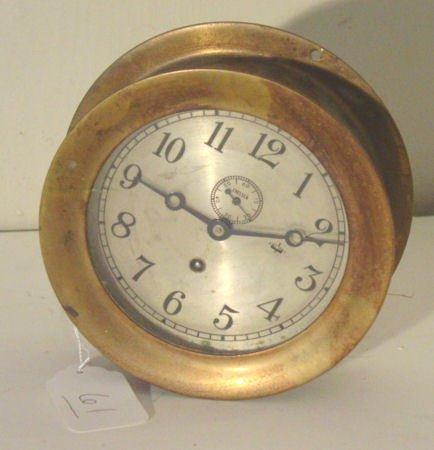 61: Chelsea brass ships clock