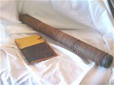 223: 19th c. telescope and ships account book