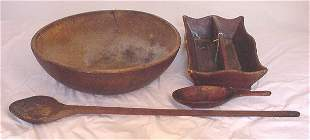 19th c lot of wooden ware including cutler