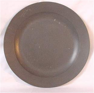 """18th c. English pewter charger, 13"""", hallm"""