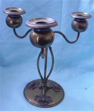 Bronze nouveau candelabrum