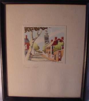 Nantucket watercolor by Doris Beers
