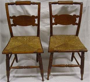 Pair period Hitchcock chairs