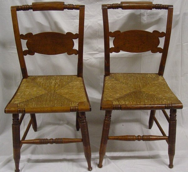 19: Pair period Hitchcock chairs