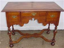 107 William and Mary period lowboy  RI