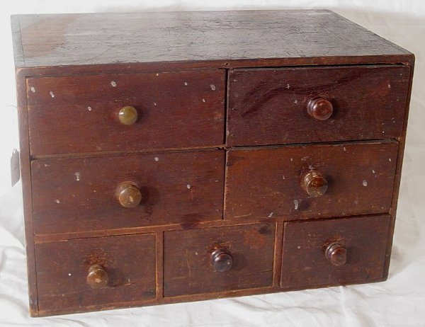 4: 19th c. primitive spice cabinet