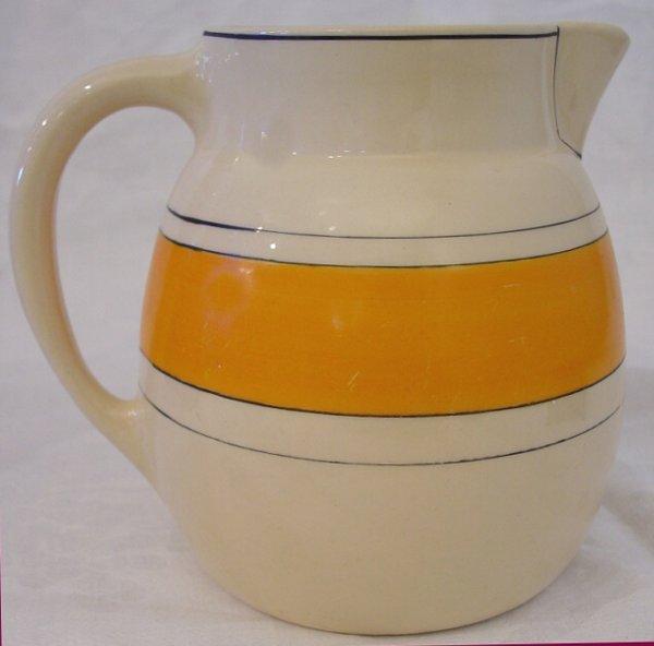 5: Early Roseville milk pitcher