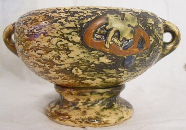 7: Footed Roseville bowl