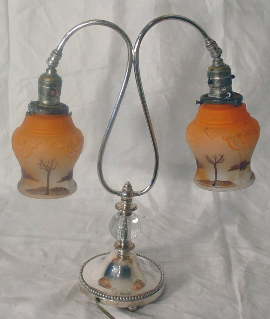 11: silver plated Pairpoint lamp