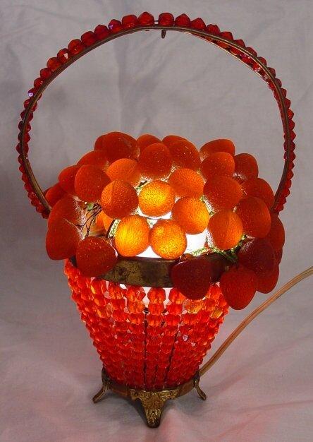 13: Czechoslovakian red glass lamp