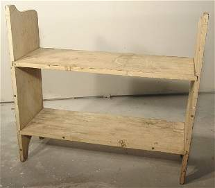 19th c. primitive potting bench, 2 tiered