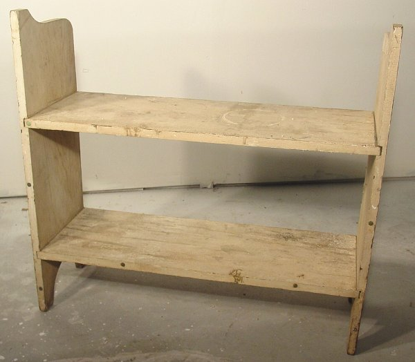 1008: 19th c. primitive potting bench, 2 tiered