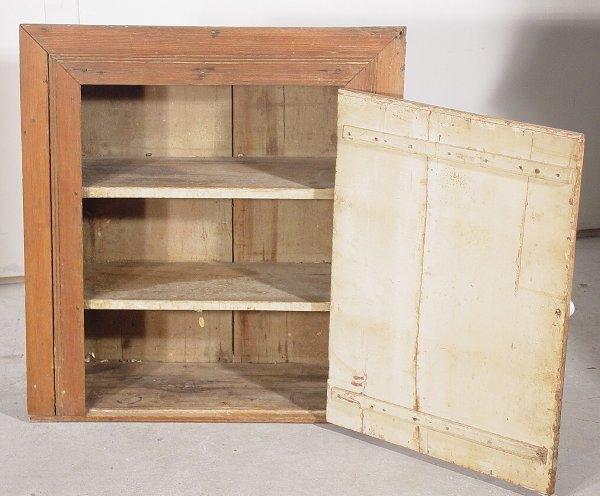 "1011: Country pine wall cupboard 31"" x 25"""