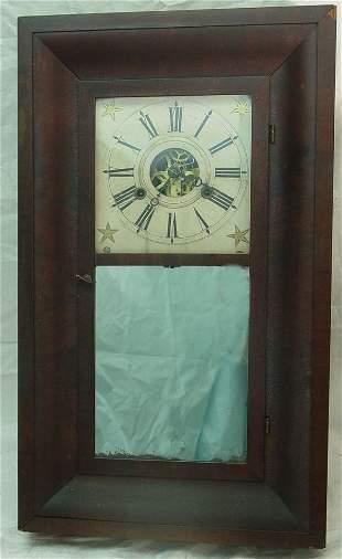 antique Bliss wall clock, circa 1850 ogee