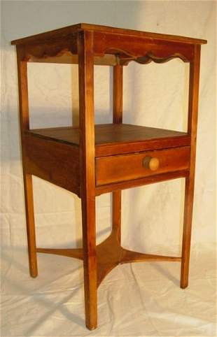 antique pine Hepplewhite work table