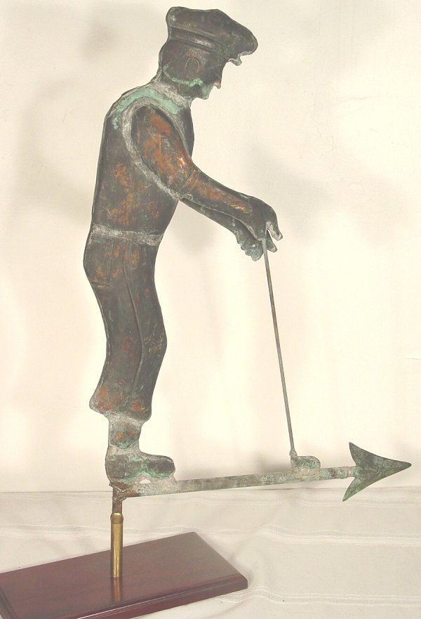1150: Antique golfer weathervane, circa 1930 c
