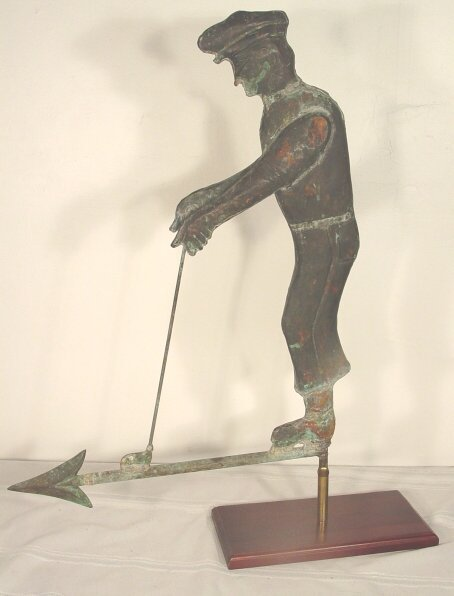 1150: Antique golfer weathervane, circa 1930 c - 2
